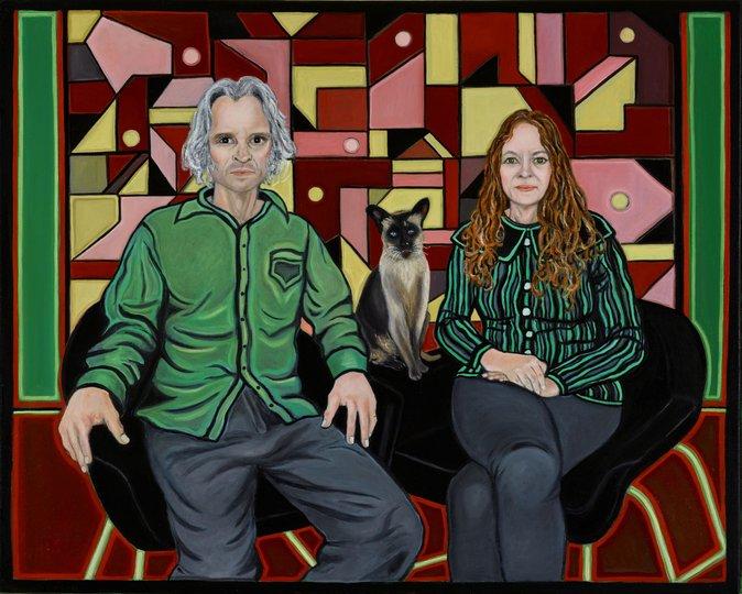 AGNSW prizes Marina Finlay Peter, Coco and Susan O'Doherty, from Archibald Prize 2018