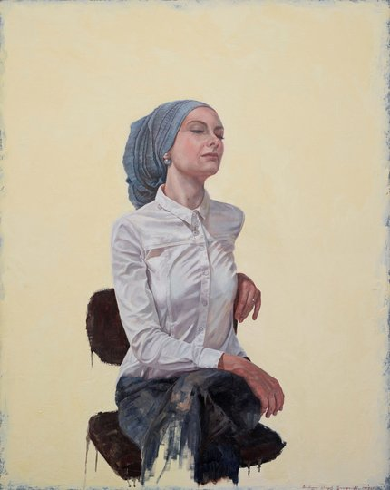 AGNSW prizes Andrew Lloyd Greensmith The serenity of Susan Carland, from Archibald Prize 2018