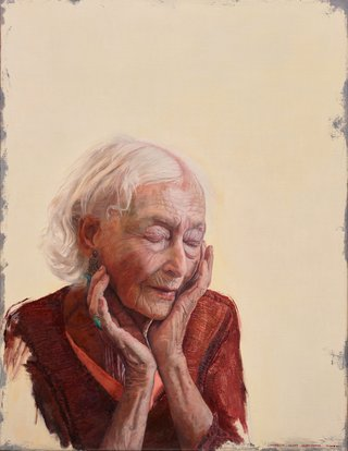 AGNSW prizes Andrew Lloyd Greensmith The inner stillness of Eileen Kramer, from Archibald Prize 2017