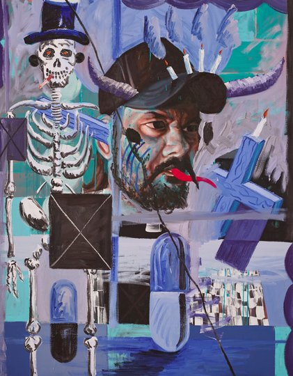 AGNSW prizes David Griggs The warrior and the prophet, from Archibald Prize 2018