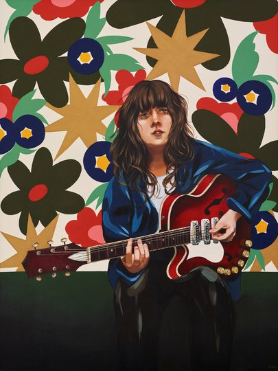 AGNSW prizes Melissa Grisancich Courtney Barnett and her weapon of choice, from Archibald Prize 2018
