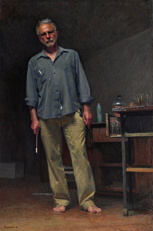 Robert Hannaford self-portrait