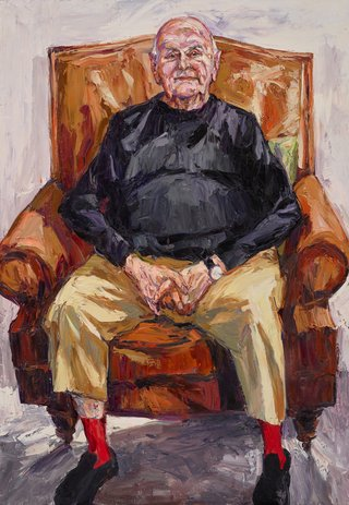 AGNSW prizes Nicholas Harding John Olsen AO, OBE, from Archibald Prize 2017