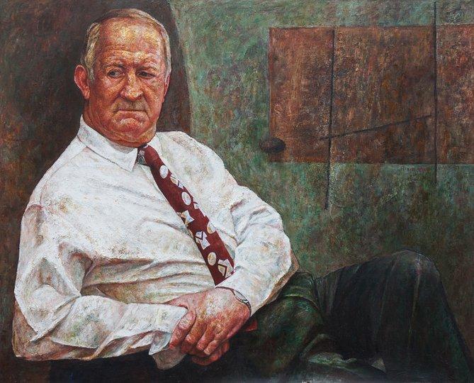 AGNSW prizes Huihai Xie Jonny Raper – A living legend, from Archibald Prize 2000