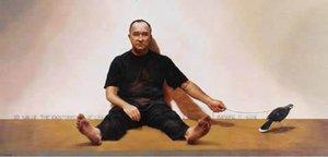 Self portrait with last Huia