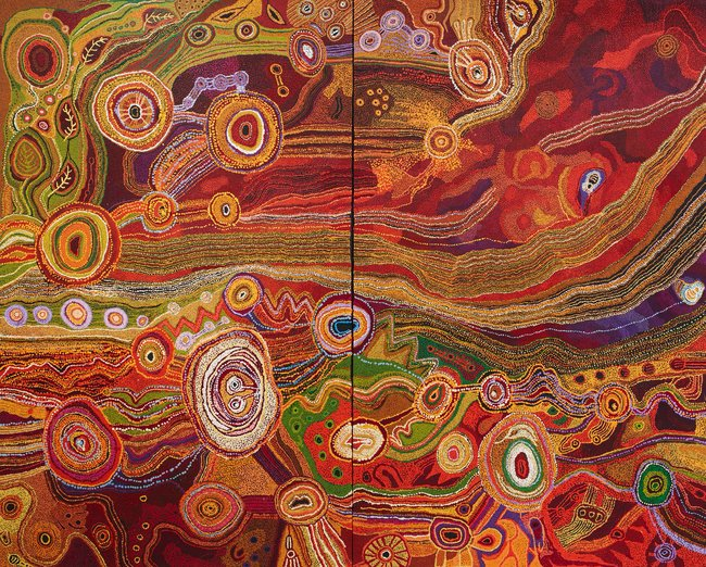 AGNSW prizes Ken Family Collaborative Seven sisters, from Wynne Prize 2016