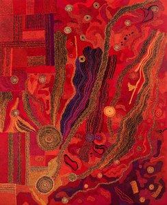 Kungkarangkalpa tjukurpa (Seven Sisters dreaming), a self-portrait