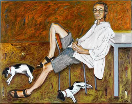 AGNSW prizes Kerrie Lester Garry Shead, Freckles and Max, from Archibald Prize 2004