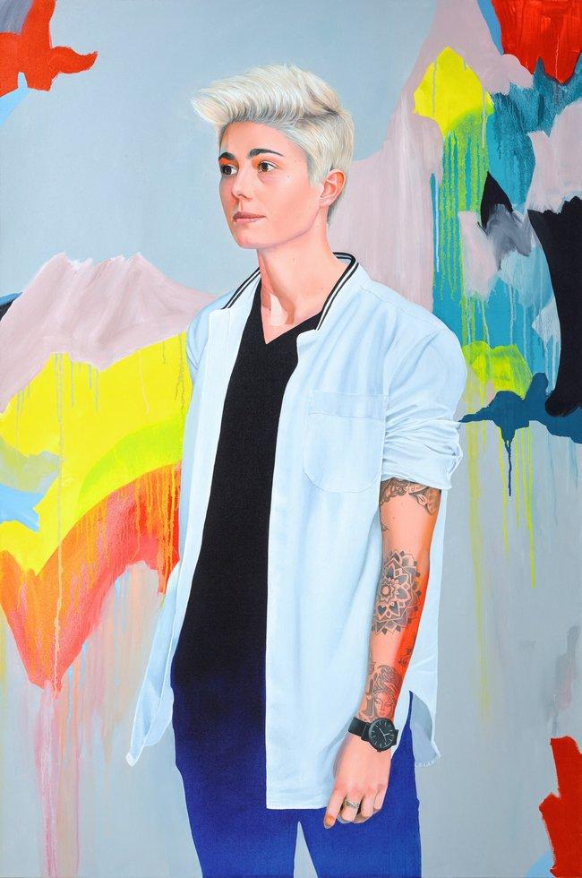 AGNSW prizes Kim Leutwyler Heyman, from Archibald Prize 2017