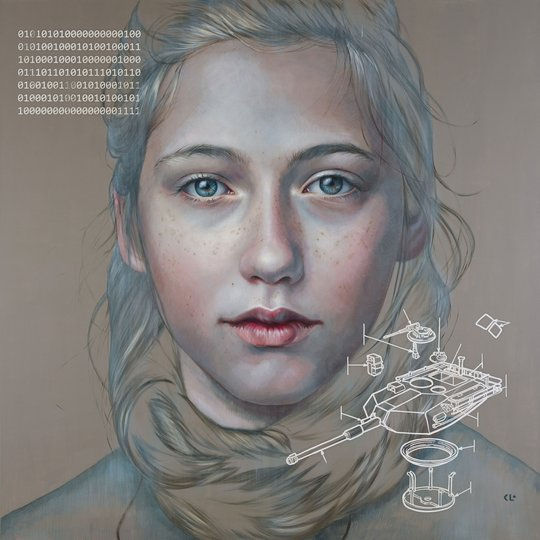 AGNSW prizes Kathrin Longhurst Self: past, present and future, from Archibald Prize 2018