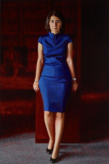 AGNSW prizes Mathew Lynn Gladys Berejiklian, from Archibald Prize 2018