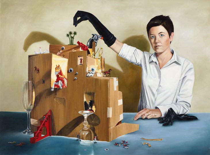 AGNSW prizes Monika Behrens The artist's practice, from Archibald Prize 2012