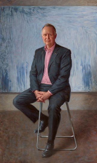 AGNSW prizes Paul Newton Portrait of Rupert Myer AO, from Archibald Prize 2017