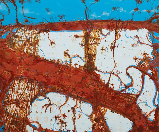AGNSW prizes John Olsen The tree of life, from Wynne Prize 2018