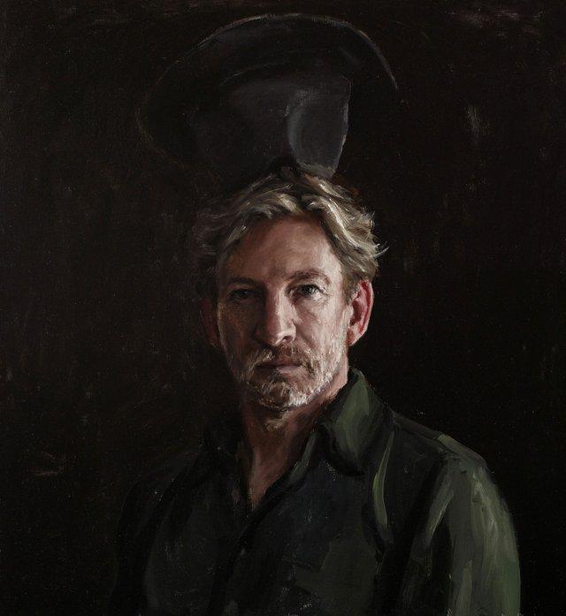 David Wenham and hat