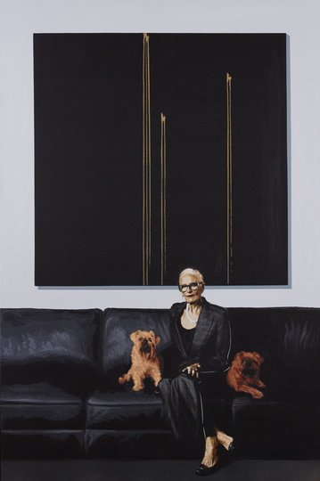 AGNSW prizes Luke Cornish Cato, Callie and Comet, from Archibald Prize 2019