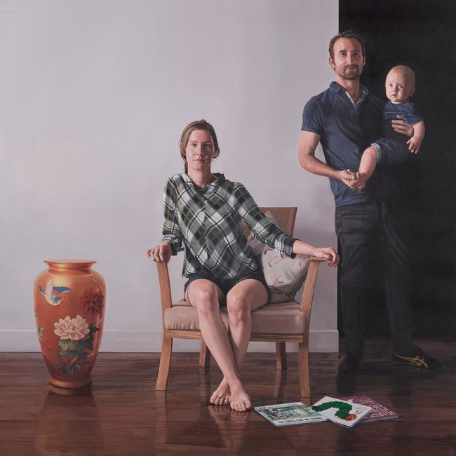 AGNSW prizes Jonathan Dalton Sally. And her boys., from Archibald Prize 2019