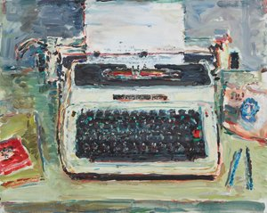 Singer typewriter in Don's shed, Perth