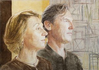 AGNSW prizes Jenny Sages Anita and Luca, from Archibald Prize 2008