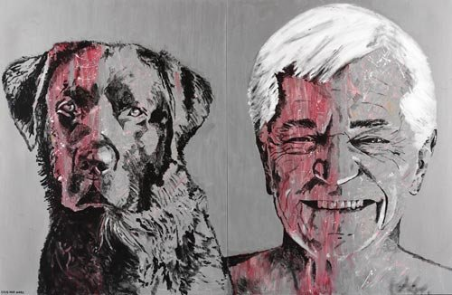 AGNSW prizes Gillie and Marc Schattner John and his black dog, from Archibald Prize 2006