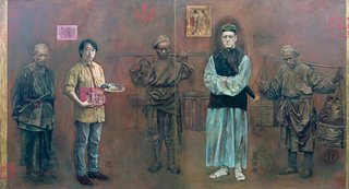 AGNSW prizes Jiawei Shen Self-portrait with GE (Chinese) Morrison, from Archibald Prize 1996