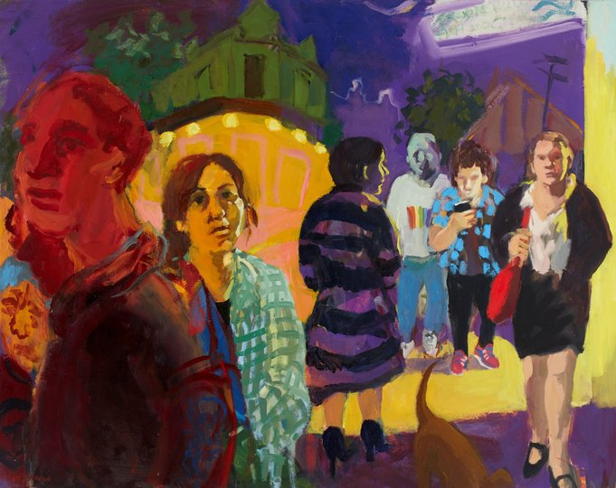 AGNSW prizes Wendy Sharpe Erskineville train station, from Sir John Sulman Prize 2018