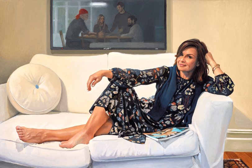 AGNSW prizes Peter Smeeth Lisa Wilkinson AM, from Archibald Prize 2017