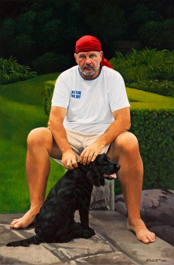 AGNSW prizes Peter Smeeth Peter FitzSimons, author, from Archibald Prize 2010