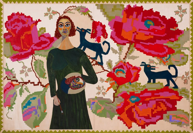 AGNSW prizes Xenia Stefanescu Woven in tapestry of life, from Archibald Prize 2011