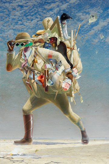 AGNSW prizes Tim Storrier The histrionic wayfarer (after Bosch), from Archibald Prize 2012