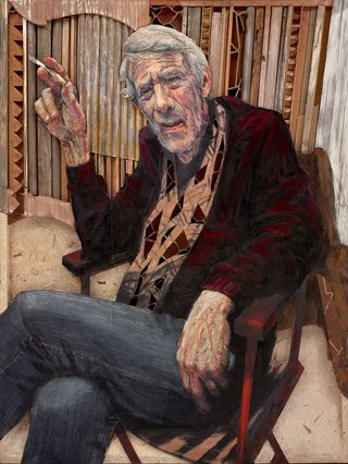 AGNSW prizes Noel Thurgate Homage to Peter Powditch, from Archibald Prize 2017