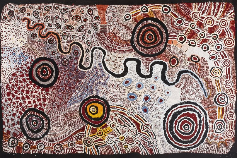 AGNSW prizes Watarru Collaborative Ilpili, from Wynne Prize 2018