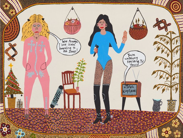 AGNSW prizes Kaylene Whiskey Kaylene TV, from Sir John Sulman Prize 2018
