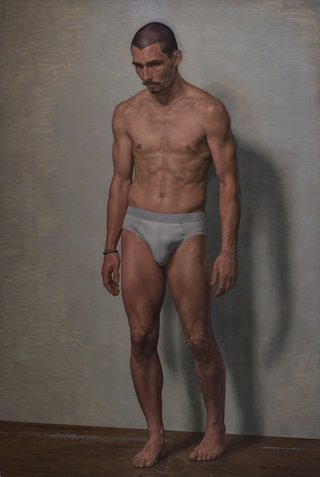 AGNSW prizes Marcus Wills The ersatz (James Batchelor), from Archibald Prize 2016
