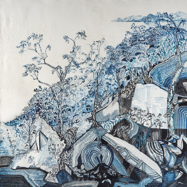 AGNSW prizes Joshua Yeldham Bay of sorrow – Hawkesbury River, from Wynne Prize 2018