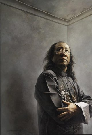 AGNSW prizes Yi Wang Long hair, from Archibald Prize 2008