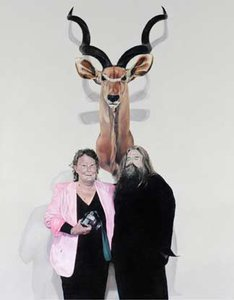 Portrait of Stephen Mori, with Win Schubert and my Greater Kudu