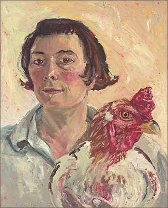 AGNSW prizes Lucy Culliton Self with subject (cock), from Archibald Prize 2003