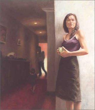 AGNSW prizes Martine Emdur Claudia Karvan, Interior, from Archibald Prize 2003