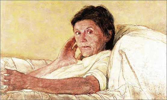 AGNSW prizes Jenny Sages True Stories - Helen Garner, from Archibald Prize 2003