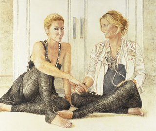 AGNSW prizes Jenny Sages Heidi & Sarah-Jane 'parallel lives', from Archibald Prize 2009