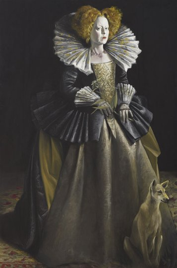 AGNSW prizes Mark Thompson Greta Scacchi as Queen Elizabeth in Mary Stuart, from Archibald Prize 2009