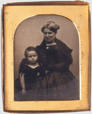 **George Goodman** *Caroline and son Thomas James Lawson* 1845, daguerreotype, State Library of NSW, Sydney, presented 1991