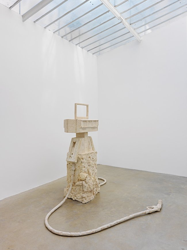 Jennifer Allora and Guillermo Calzadilla *Petrified petrol pump* 2010 fossil-filled limestone John Kaldor Collection © the artists Photo:Kleinefenn