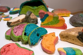 Antoni Miralda *Coloured bread* (1973) 45.1973.2