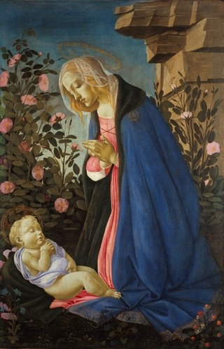 Sandro Botticelli *The Virgin adoring the sleeping Christ child ('The Wemyss Madonna')* c1485, tempera, oil and gold on canvas