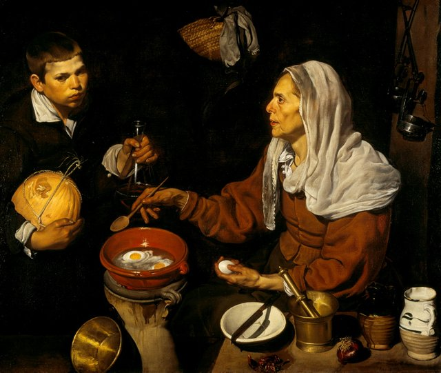 Diego Velázquez *An old woman cooking eggs* 1618, oil on canvas
