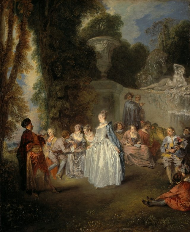 Jean-Antoine Watteau *Venetian pleasures (Fête vénitinennes)* 1718–19, oil on canvas