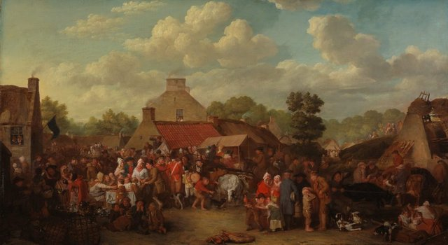 David Wilkie *Pitlessie Fair* 1804, oil on canvas