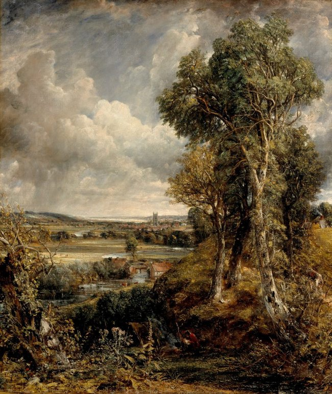 John Constable *The Vale of Dedham* c1827–28, oil on canvas